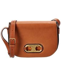 Celine Maillon Triomphe Medium Leather Shoulder Bag - Brown