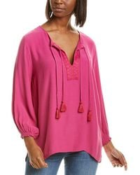 Johnny Was Peasant Blouse - Pink