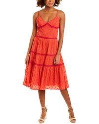 Tessora Camilla A-line Dress - Red