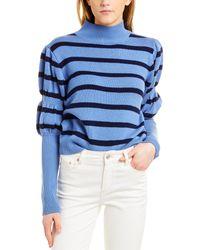 10 Crosby Derek Lam Elani Puff Sleeve Wool Jumper - Blue