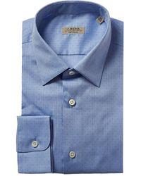 Z Zegna Slim Fit Dress Shirt - Blue