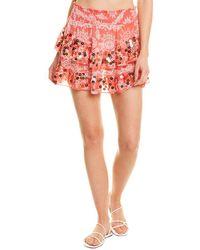 Ramy Brook Tia Mini Skirt - Red