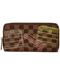 Louis Vuitton Damier Ebene Trunks & Bags Canvas Zippy Wallet - Brown
