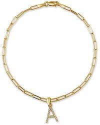 Sabrina Designs 14k 0.08 Ct. Tw. Diamond A-z Initial Bracelet - Metallic