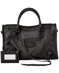 Balenciaga Small Classic City Leather Tote - - Black