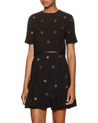 Torn By Ronny Kobo - Anniah Embroidered Starry Crop Top - Lyst