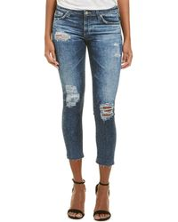 AG Jeans - The Stilt 11 Years Sail Away Cigarette Crop - Lyst