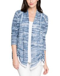 NIC+ZOE Linen-blend Cardigan - Blue