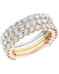 Diana M. Jewels . Fine Jewellery 18k Tri-color 3.15 Ct. Tw. Diamond Ring - Metallic