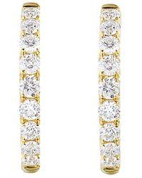 Diana M. Jewels . Fine Jewellery 14k 0.33 Ct. Tw. Diamond Earrings - Metallic