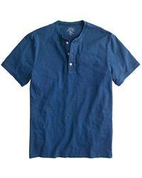 J.Crew Garment Dye Henley Shirt - Blue