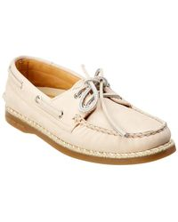 Sperry Top-Sider A/o Leather Boat Shoe - White