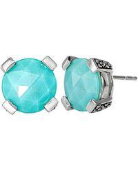 Stephen Dweck Silver Gemstone Studs - Blue