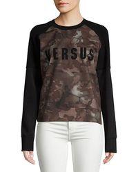 Versace - Camouflage Sweatshirt - Lyst