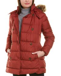 Brooks Brothers Quilted Down Coat - Red