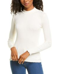 Vince Variegated Rib Top - White