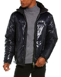 Dunhill Quilted Down Coat - Blue