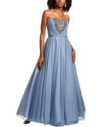 THEIA Sweatheart Gown - Blue