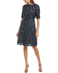 Lela Rose A-line Dress - Blue