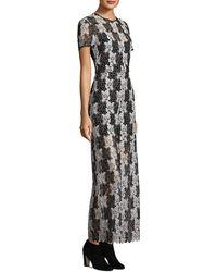 Diane von Furstenberg Lace Silk Jumpsuit - Black