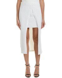 Isla Pinstripe Skirt - White