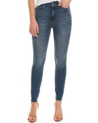 DL1961 Premium Denim Chrissy Seville Ultra High-rise Instasculpt Ankle Skinny Leg - Blue