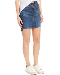 AG Jeans Erin Pencil Skirt - Blue