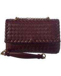 Bottega Veneta Baby Olimpia Intrecciato Leather Shoulder Bag - Multicolour