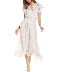 Rebecca Taylor Zadie Smocked Silk-blend Midi Dress - White