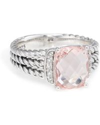 David Yurman David Yurman Wheaton Silver 2.83 Ct. Tw. Diamond & Morganite Ring - Metallic