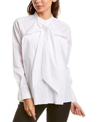 Donna Karan Ruffle Top - White