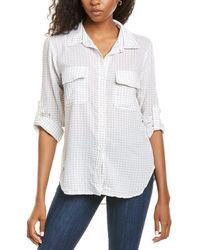 Max Studio Plaid Shirt - White
