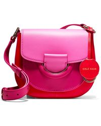 Cole Haan Grand Ambition Colorblocked Leather Crossbody - Pink