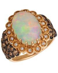 Le Vian ? Chocolatier? 14k Strawberry Gold? 3.92 Ct. Tw. Diamond & Opal Ring - Metallic