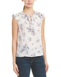 Rebecca Taylor Hydrangea Floral Sleeveless Silk Blouse - Multicolour