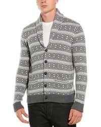 Brooks Brothers Wool-blend Shawl Collar Sweater - Gray