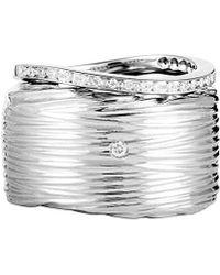 Roberto Coin 18k 0.13 Ct. Tw. Diamond Ring Set - Multicolour