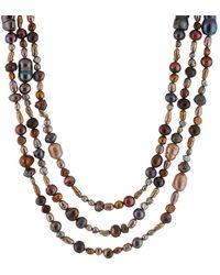 Splendid Pearl 72in Necklace - Multicolour