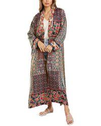 Johnny Was Patchwork Reversible Silk Kimono - Multicolour