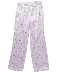 Morgan Lane Chantal Silk Pant - Purple
