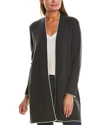 Eileen Fisher Tipping Wool Cardigan - Gray