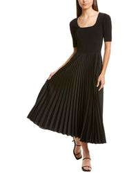 Theory Square-neck A-line Dress - Black