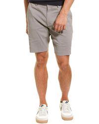 Theory Curtis Eco Crunch Linen-blend Short - Grey