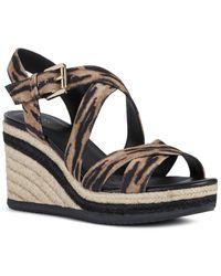 Geox Ponza Suede Sandal - Black