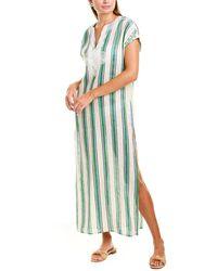 Tory Burch Awning Stripe Dress - Green