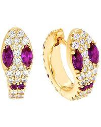 Gabi Rielle - Gold Over Silver Cz Earrings - Lyst