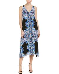 Nanette Lepore Sway Kaleidoscope Floral Midi Dress - Black