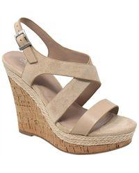 Charles David Aaliyah Wedge Sandals - Natural