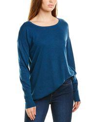 NYDJ Button Back Wool-blend Sweater - Blue