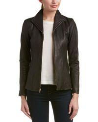 Cole Haan Leather Jacket - Black